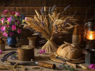 Собирать пазл Lavender and rye онлайн