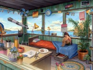 Собирать пазл Summer by the sea онлайн