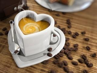 Собирать пазл Love for coffee онлайн