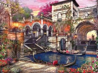 Собирать пазл Lyubov v Venetsii онлайн