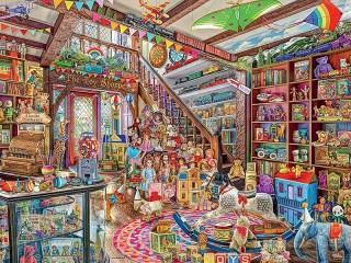 Собирать пазл Shop fantasy онлайн