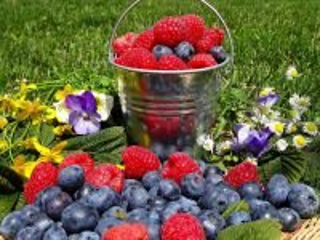Собирать пазл Raspberry and blueberry онлайн