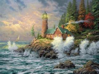 Собирать пазл Lighthouse онлайн
