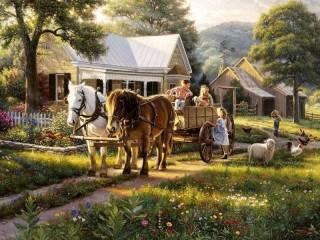 Собирать пазл On the ranch 1 онлайн