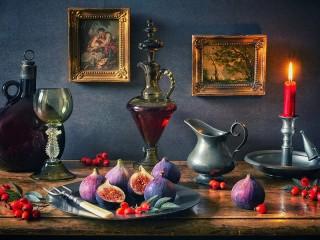 Собирать пазл Still life with figs онлайн