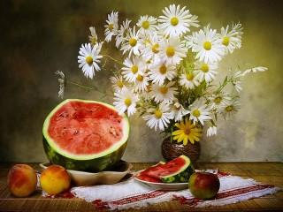 Собирать пазл Still life with daisies онлайн