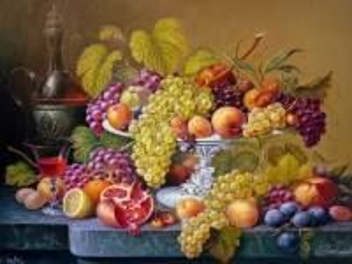 Собирать пазл Still life with grapes онлайн