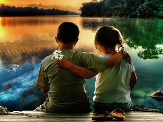 Собирать пазл Young lovers онлайн