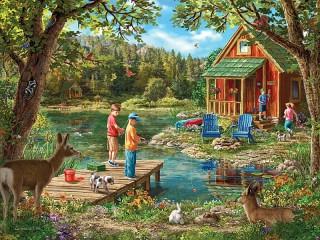 Собирать пазл Recreation in nature онлайн