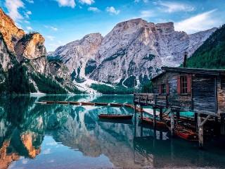 Собирать пазл Lake Prags онлайн
