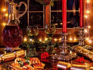 Собирать пазл The festive evening онлайн