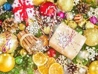 Собирать пазл Festive cuts онлайн