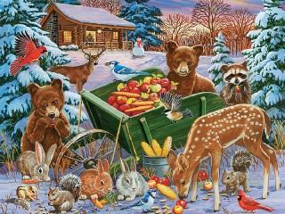 Собирать пазл Holiday treats онлайн
