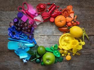 Собирать пазл Rainbow circle онлайн