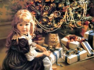 Собирать пазл Christmas gifts онлайн