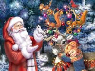 Собирать пазл Santa and elf онлайн