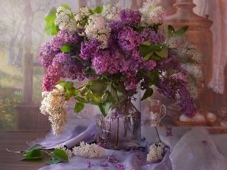 Собирать пазл Lilacs онлайн