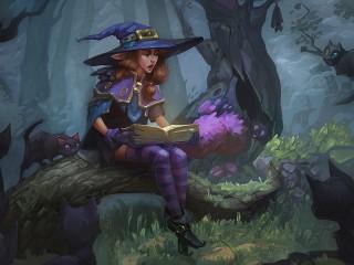 Собирать пазл Tales of the witch онлайн