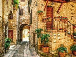 Собирать пазл Spello Italy онлайн
