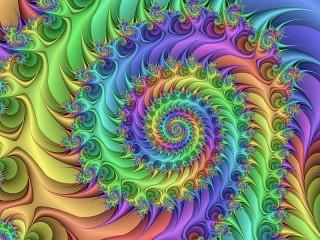 Собирать пазл Spiral rainbow онлайн