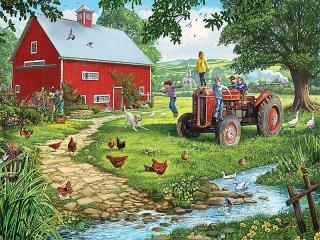 Собирать пазл Stariy traktor онлайн