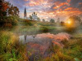 Собирать пазл Church in Osenevo онлайн