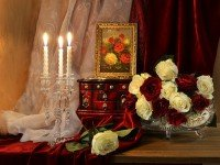 Собирать пазл Evening roses онлайн