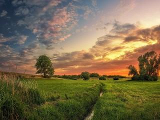 Собирать пазл Evening landscape онлайн