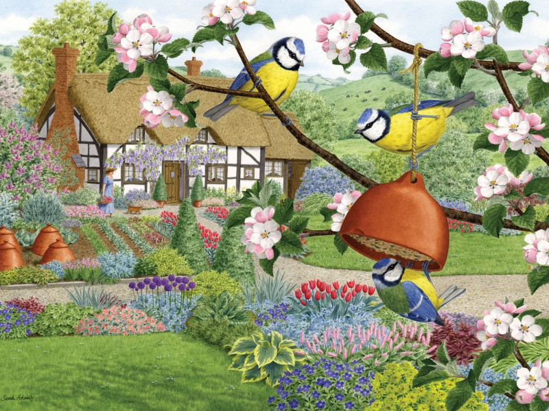 Puzzle Recueillir des puzzles en ligne - In spring in garden
