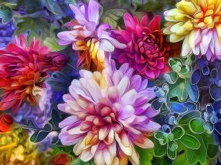 Собирать пазл Stained glass window of colors онлайн