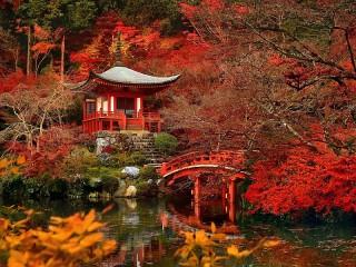 Собирать пазл Japanese garden онлайн