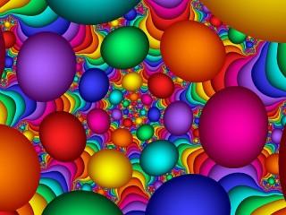 Собирать пазл Bright balls онлайн