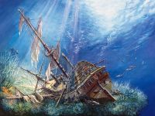 Собирать пазл Sunk galleon онлайн