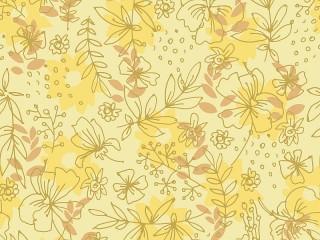 Собирать пазл Yellow ornament онлайн