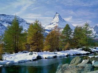 Собирать пазл Winter landscape онлайн