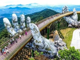 Собирать пазл Golden bridge онлайн