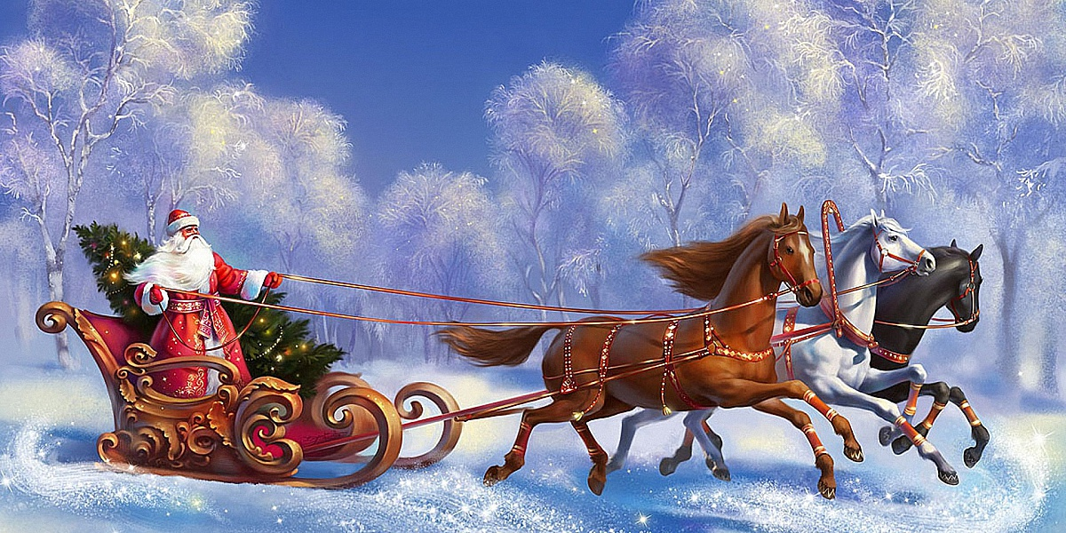 Puzzle Recueillir des puzzles en ligne - Three-horse carriage